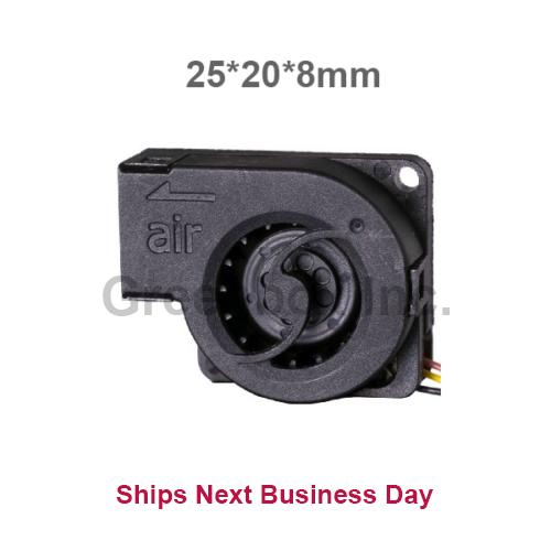 Micro Brushless Blower Fan 25mm * 20mm * 8mm 3.3v 5.0v Air Flow Rate 0.6 CFM DC